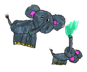 Toddlers elephants pic2