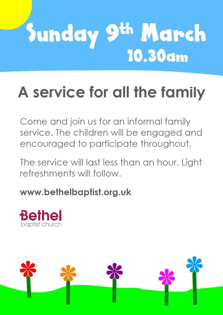 Family Service 9th March 2014