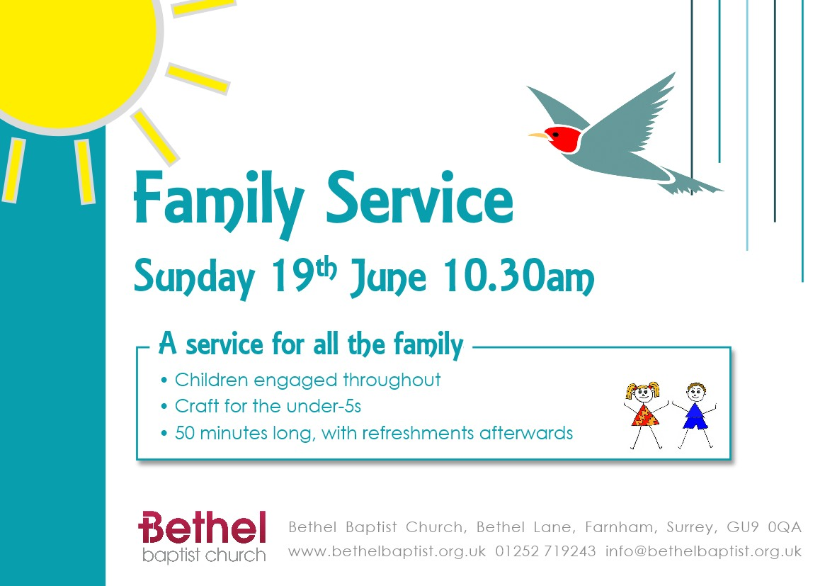 Summer Family Service Flyer